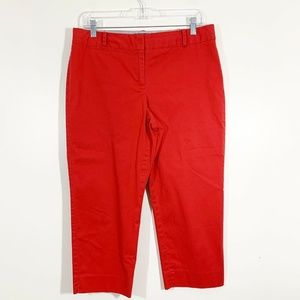 Talbots Red Signature Straight Cropped Pants 10P